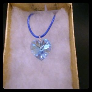 Jewelry - Angel Blue Crystal Heart Necklace